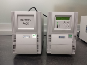 Battery Backup Power UPS and External Battery Cabinet Charging Up For The Race Test 2